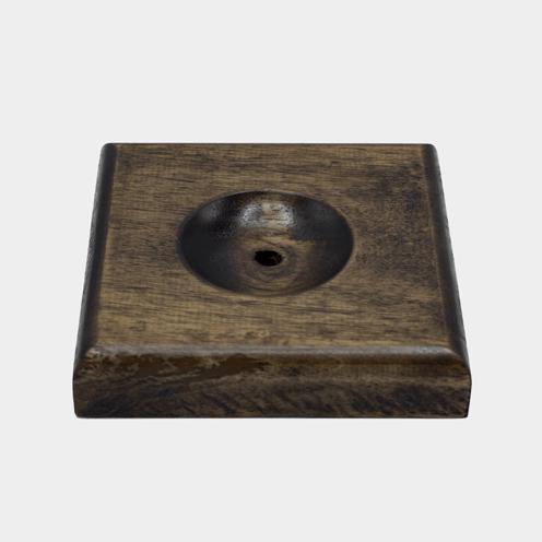 پایه چوبی برای چراغ سنگ نمک