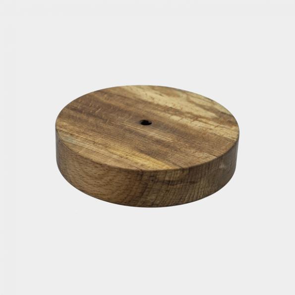 پایه چوبی ساده یا گرد برای چراغ سنگ نمک طرح گوی