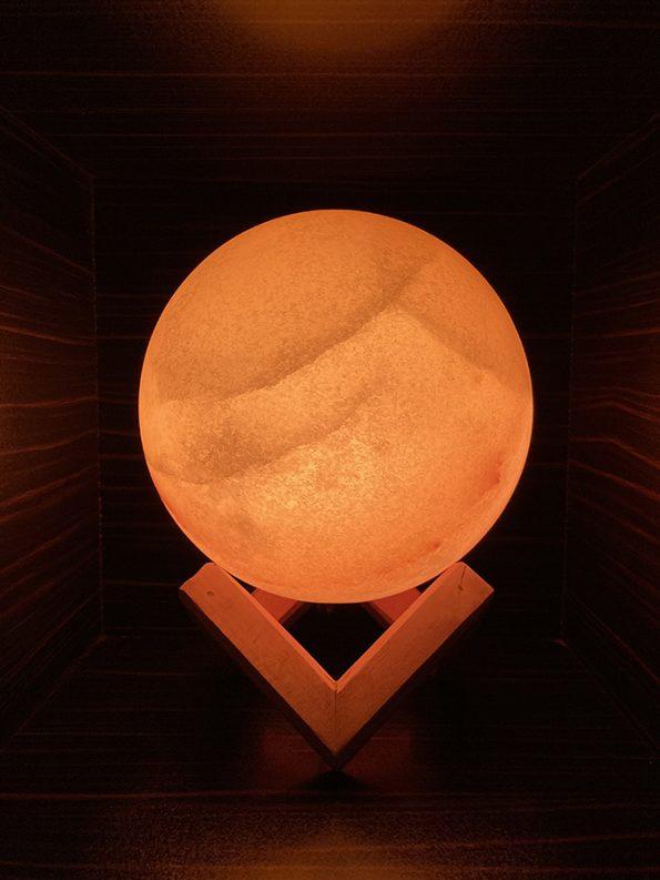 آباژور سنگ نمک طرح گوی سایز بزرگ کد BS1002