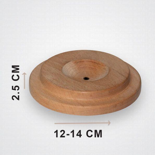 پایه گرد برای چراغ سنگ نمک چوبی